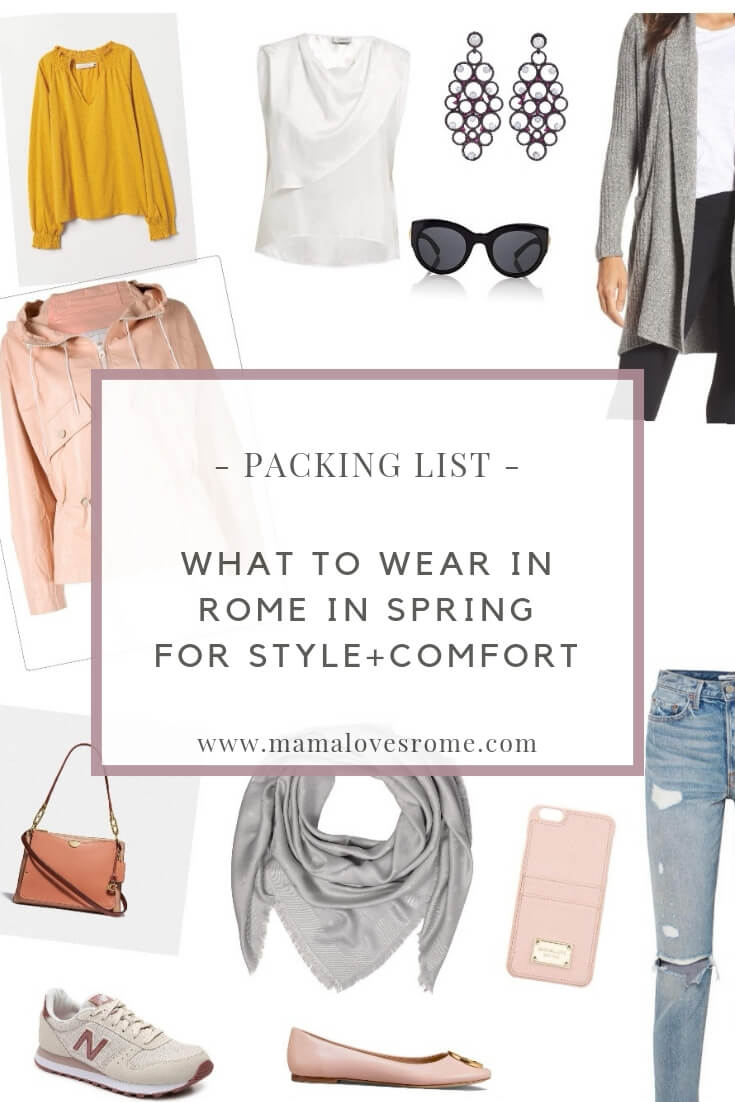 What to wear in Rome in spring: packing list, style guide, dress code