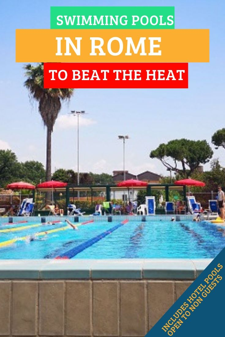 Outdoor swimming pools in Rome and best Rome hotels with swimming pools offering day passes